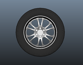 3D model SUV Tyre with Alloys