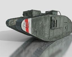 3D model Mark V British Heavy Tank WW1