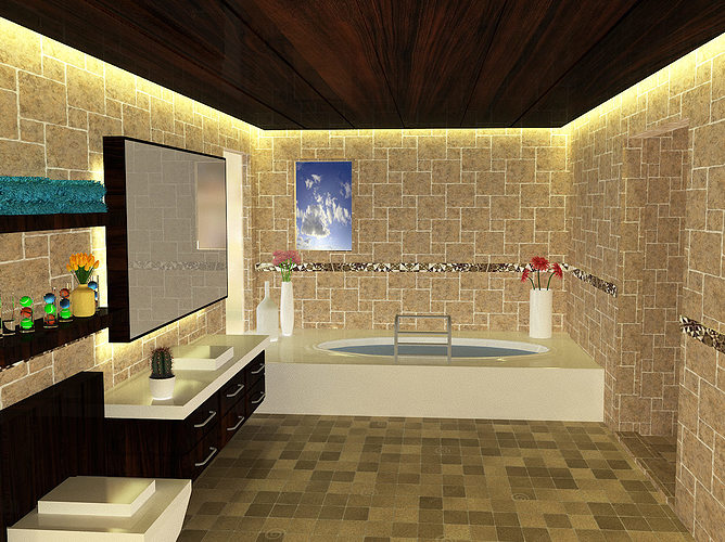 Bathroom designs 3d model max for Bathroom design 3d model