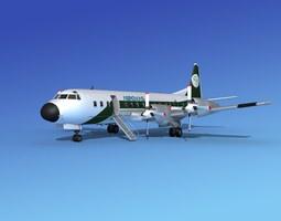 Lockheed L-188 Electra HP Aerovias 3D model