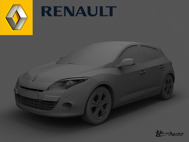 renault megane iii 2009 pack1 3d model max. Black Bedroom Furniture Sets. Home Design Ideas