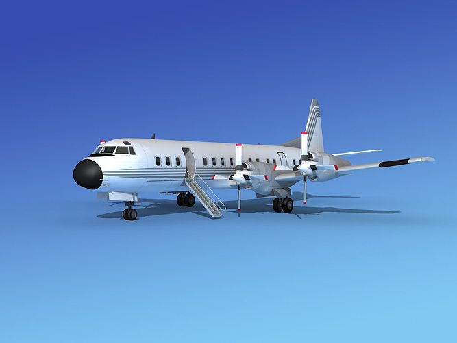 lockheed l-188 electra hp corporate 1 3d model max obj 3ds lwo lw lws stl 3dm 1