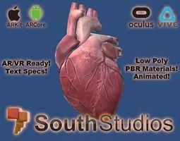 Animated Heart AR VR Unity 3dsmax animated
