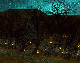 Halloween Graveyard 3D model
