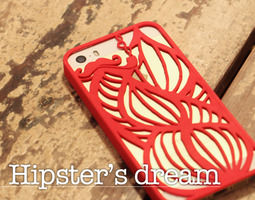 3d printable model hipster s dream case for iphone 5