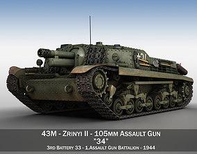 43M Zrinyi II - Hungarian Assault Gun - 3rd 3D model 1