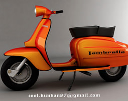 3d model scooter lembretta
