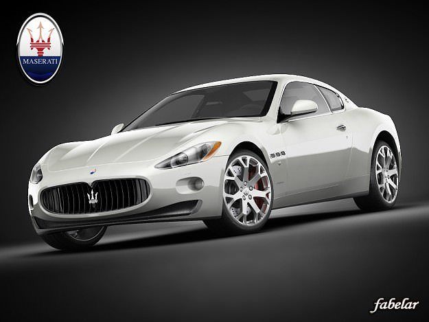 3d Model Maserati Gran Turismo Cgtrader