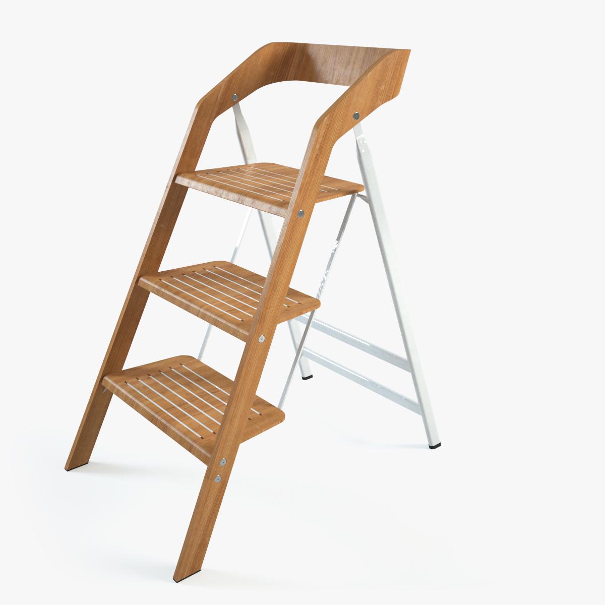 Beautiful Vintage Usit Stepladder Chair 3 Step Version 3d Model Max 1 ...