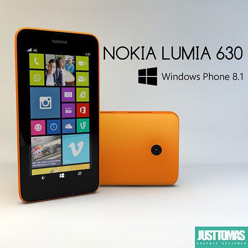 Nokia Lumia 630 3D Model OBJ 3DS C4D