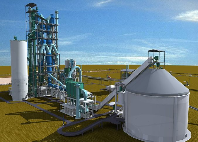 Cement Plant Preheater Cyclone Images : Cement plant d cgtrader