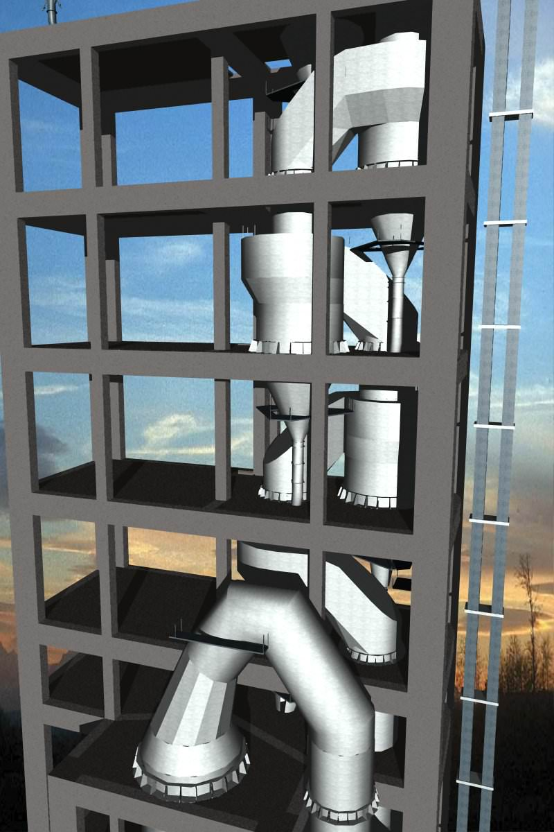 Cement Plant Preheater Cyclone Images : Cement plant cyclone preheater ilc s inlin free d