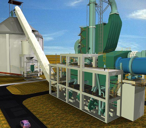 7 Cooler Electrostatic Precipitator Cement Plant Free 3d