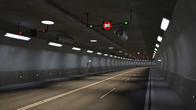 tileable road tunnel 3d model max obj 3ds fbx mtl tga 1