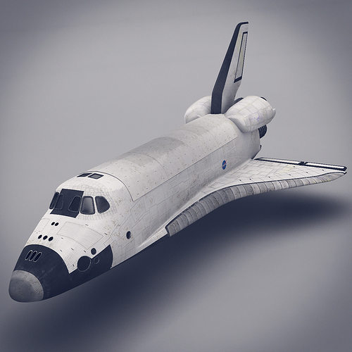 space shuttle 3d model max obj fbx lwo lw lws ma mb stl 1