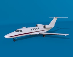 Cessna citation cj4 private jet 3D model