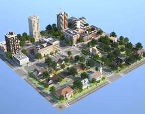 3D asset Town with suburb