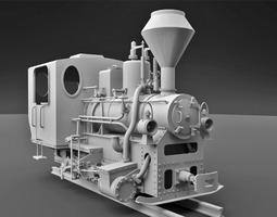 MAV 399 Steam Locomotive 3D model