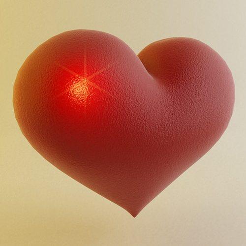 heart 3d model 3d model max 3ds 1