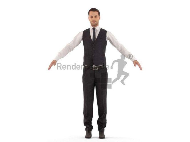 eric 001 man standing 3d model rigged max fbx c4d ma mb tga unitypackage prefab 1