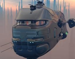 Federation Cargo Ship 3D