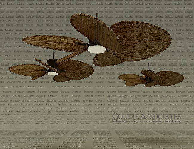 3d model fan rattan ceiling good for cabanas | cgtrader Cabana Ceiling Fans