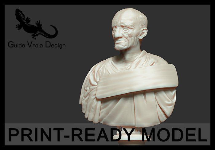 Printable bust of Marcus Porcius Cato the Censor