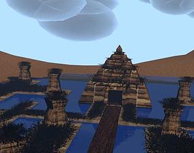 Ancient temple 3D asset