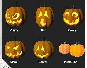 3D model Halloween Pumpkin Pack