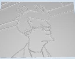 Futurama Fry Lithophane 3D Model