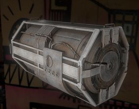 Futuristic Backup Generator Old And Dirty Version 3D asset