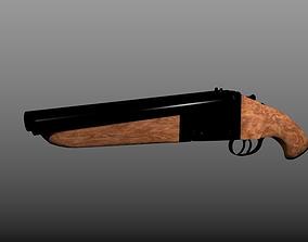 3D model Double Barrel ShotGun