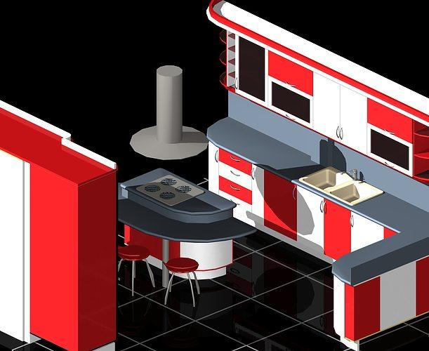 Modular kitchen auto cad d cgtrader
