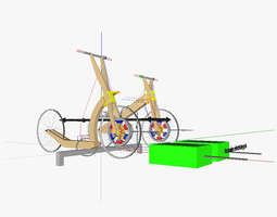 human powered vehicles for bicycle sharing systems 3d model