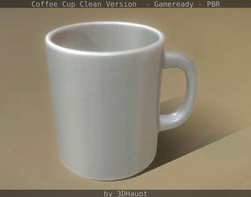 Coffee Cup Clean Version - Gameready - PBR 3D model