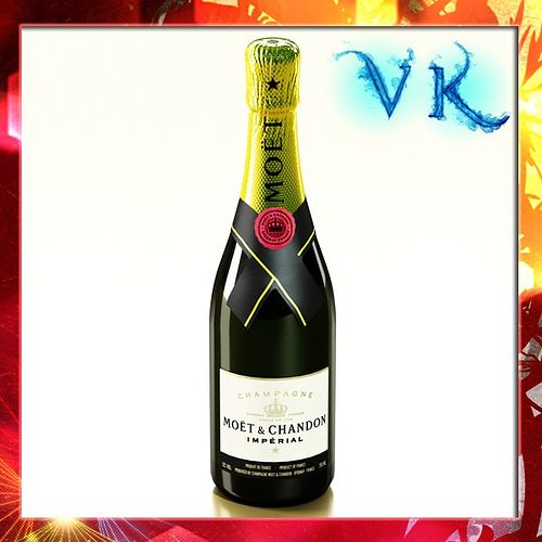 champagne moet chandon bottle 3d model max obj mtl 3ds fbx mat 1