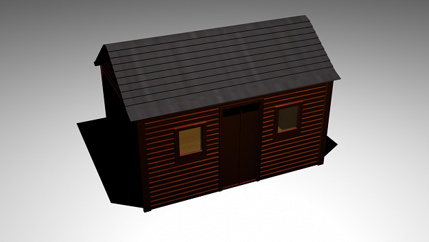 shed 3d model max obj 1