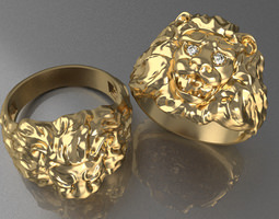 ring lion 3d print model