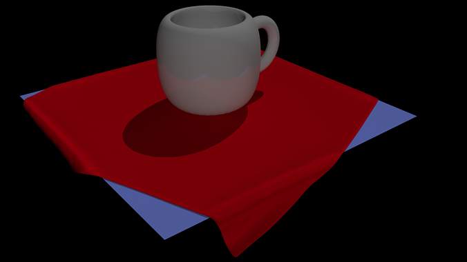 coffee cup 3d model low-poly blend 1