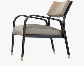 3D Holly hunt GERMAIN LOUNGE CHAIR