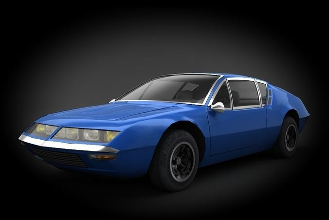 renault alpine a310 1973 3d asset cgtrader. Black Bedroom Furniture Sets. Home Design Ideas