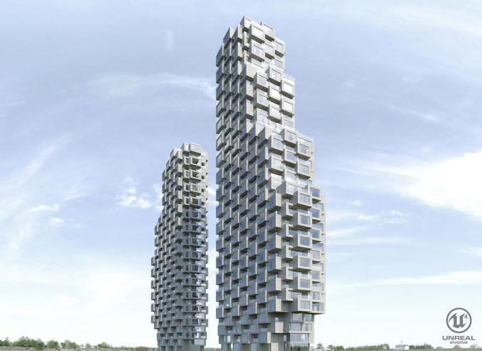 norra tornen 3d model low-poly max obj mtl fbx stl uasset 1