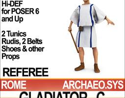 3d model roman gladiator referee props poser daz