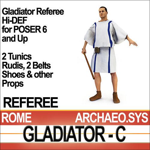 roman gladiator referee props poser daz 3d model obj mtl 3ds c4d vue pz3 pp2 1