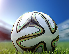 Brazuca soccer official ball Football 3ds max model rigged