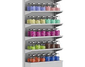 Market Shelf - Candies in Jars 3D