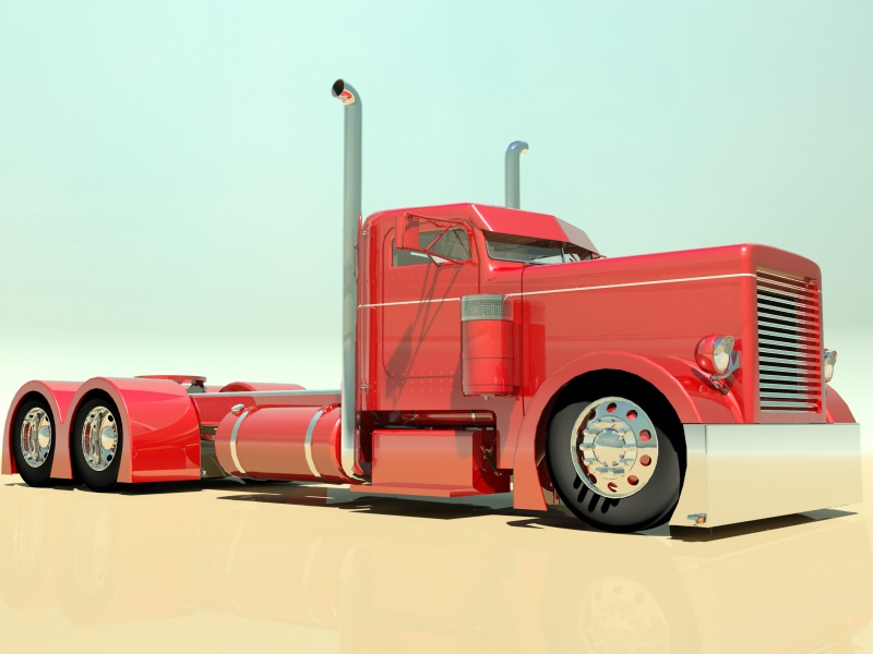 Hot Rod Semi Truck 3D | CGTrader