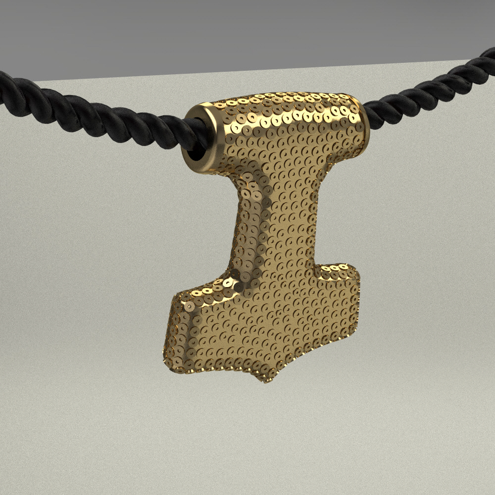 amulet of thor s hammer mjolnir 3d model 3d printable stl