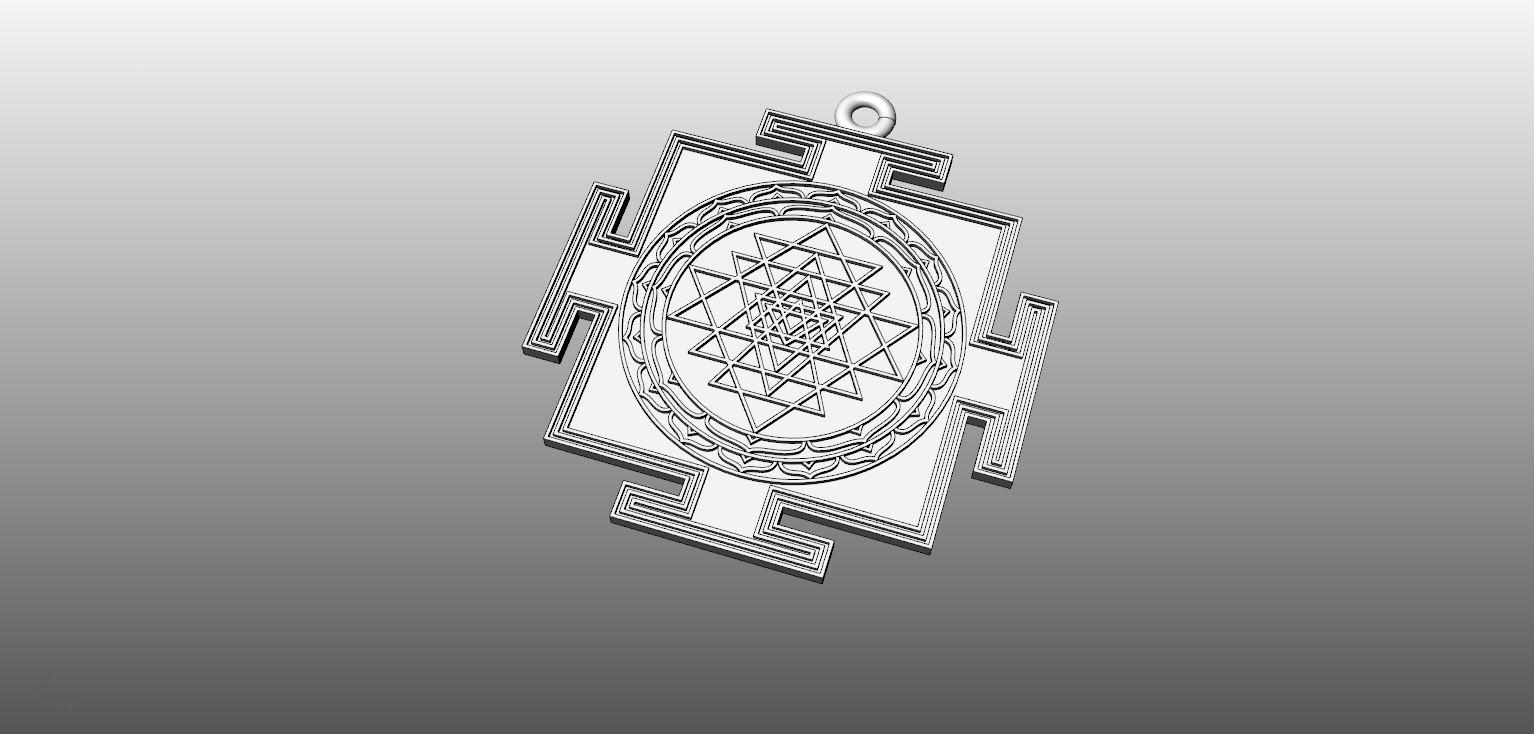 Pendant sri yantra 3d printable model cgtrader pendant sri yantra 3d model stl 3dm 1 mozeypictures Images