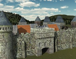 Medieval City fortifications 3D model
